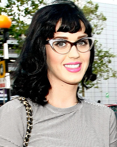 f3c62420d81a And here's Katy Perry rocking her cat-eye glasses. Love the subtle bling on  her frame. So glad its making a comeback on the fashion scene.