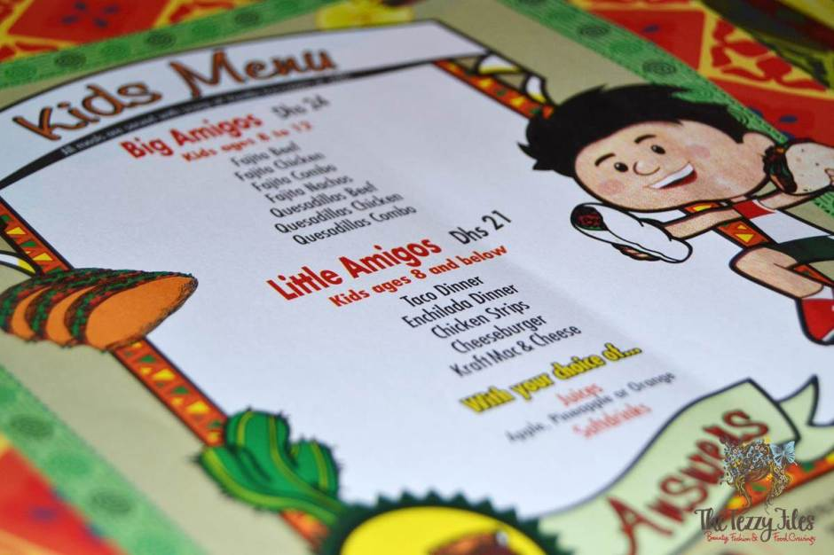 el chico kids menu