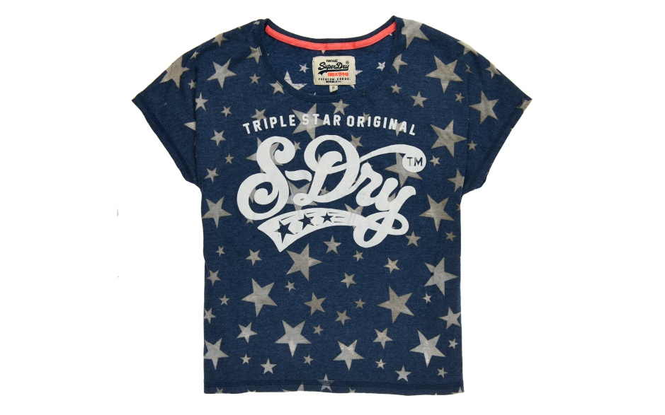G10KA016_TRIPLE STAR ORIGINAL GROWN ON SLEEVE TEE_SUPERMARINE NAVY
