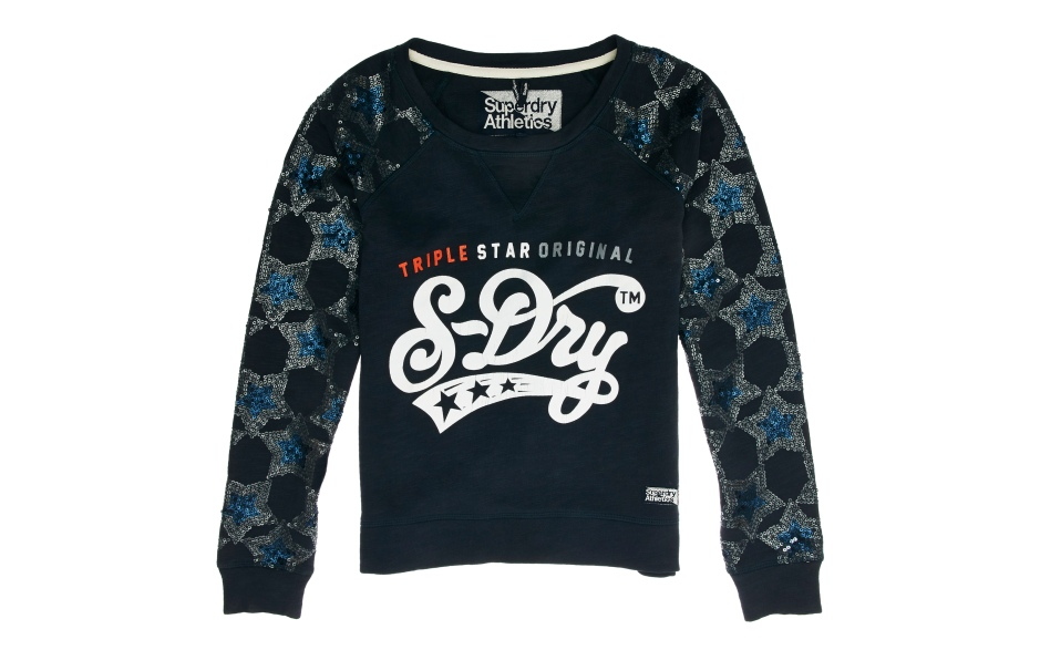 G20KG006_SUPER STATE SEQUIN STAR SWEAT_ECLIPSE NAVY MARL