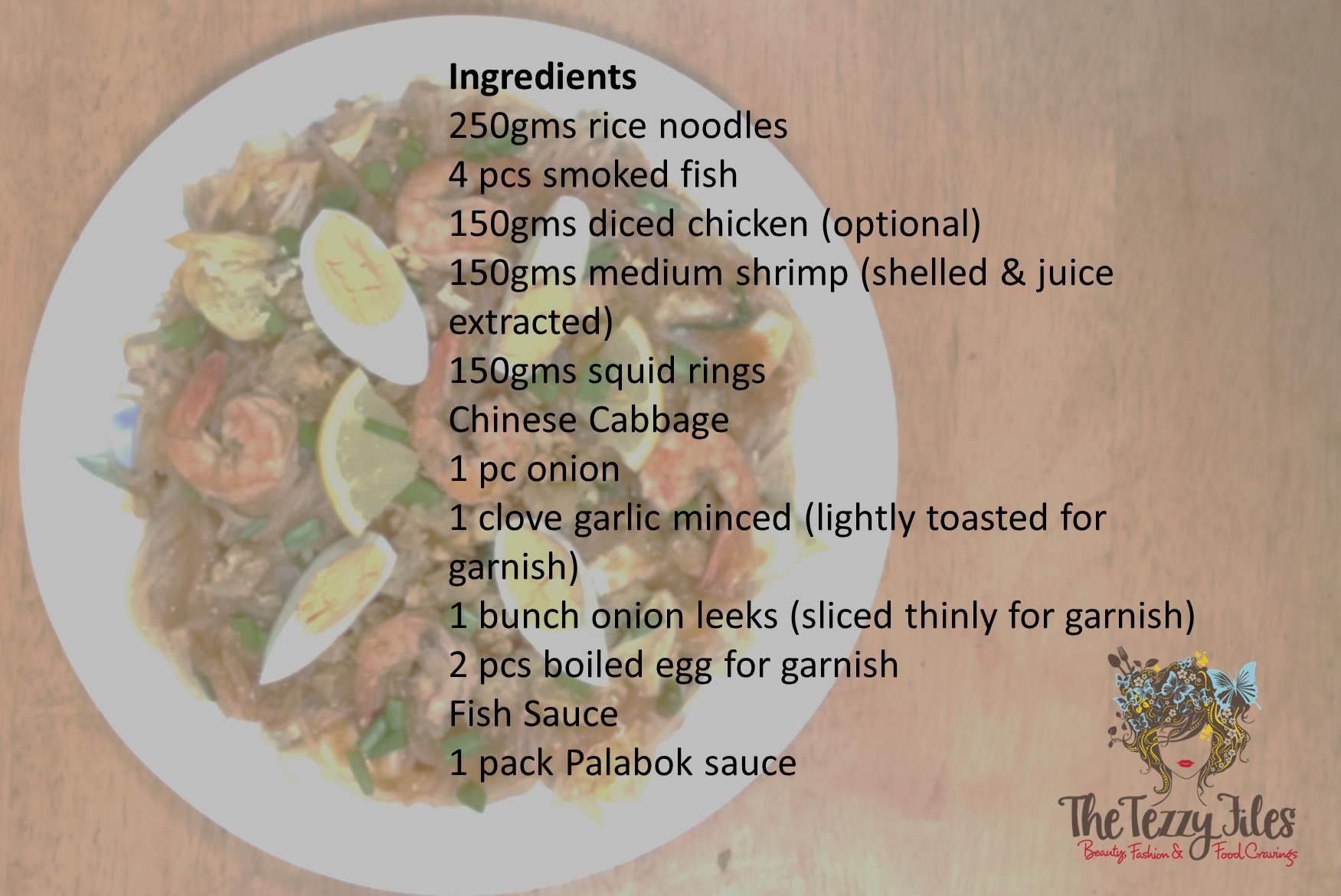 Authentic filipino cuisine and katherines recipe for pancit pancit palabok recipe ingredients forumfinder Choice Image