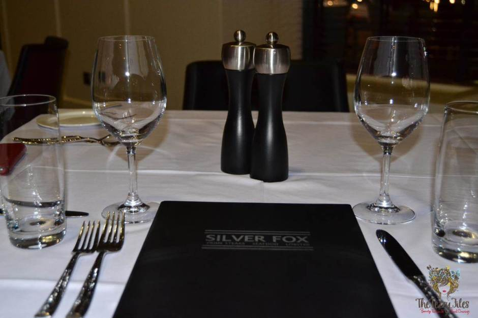 silver fox menu table
