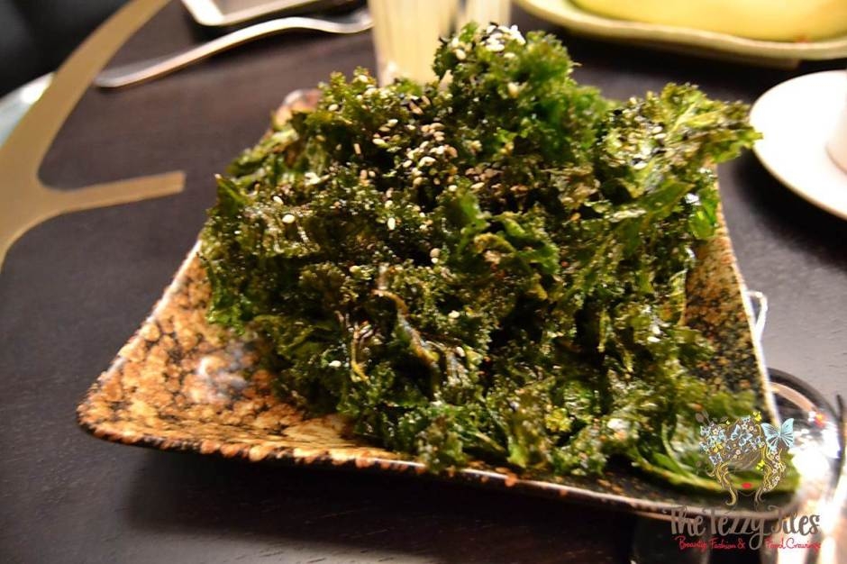 china grill crispy kale