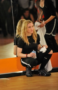 Madonna at a Mexico City gym opening