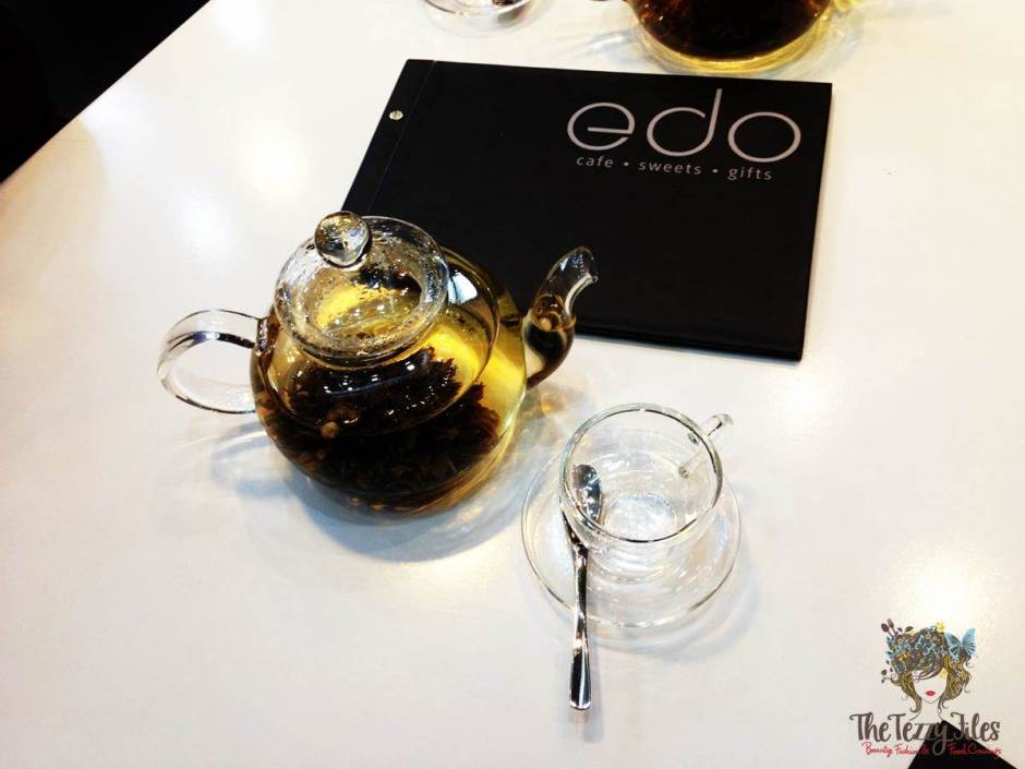 edo blossom tea and menu