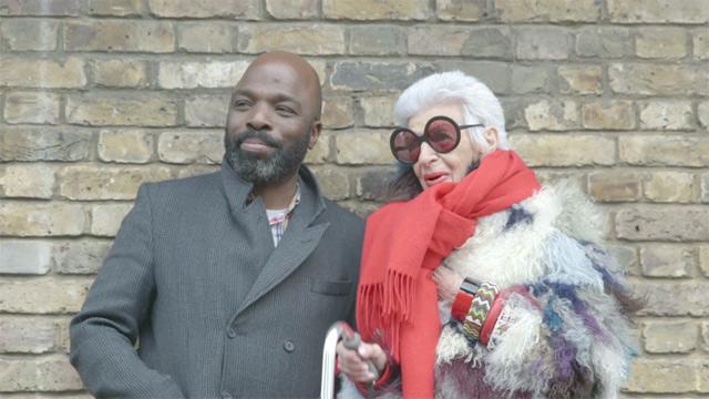 Iris with fashion maestro Duro Olowu.