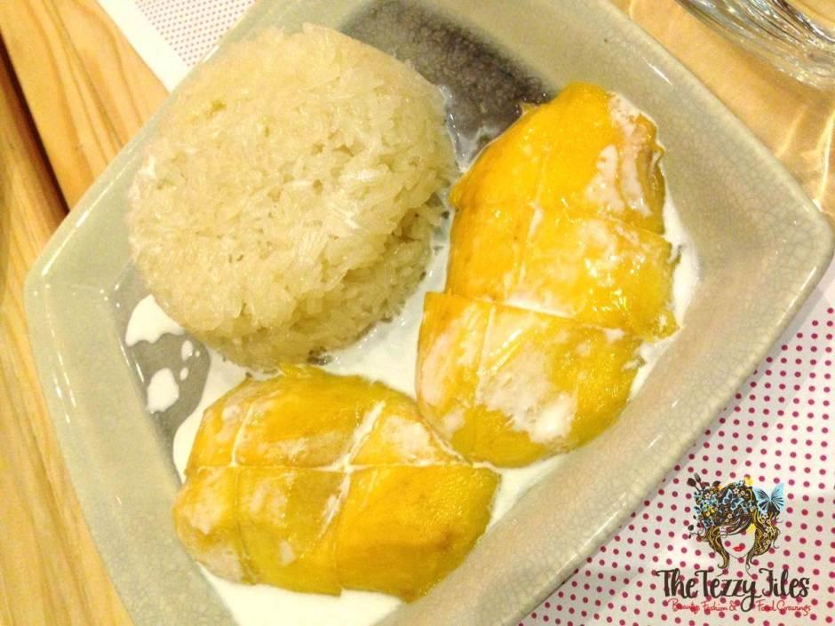 Zen Dubai's Sticky Rice Mango