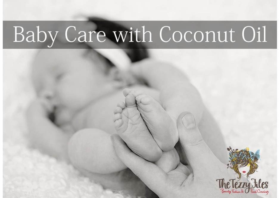baby care with coconut oil