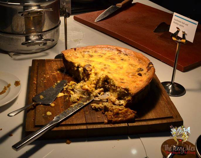 latest recipe le meridien review mushroom leek and cheddar quiche