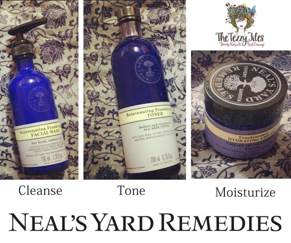 neal's yard remedies frankincense cleanse tone moisturise