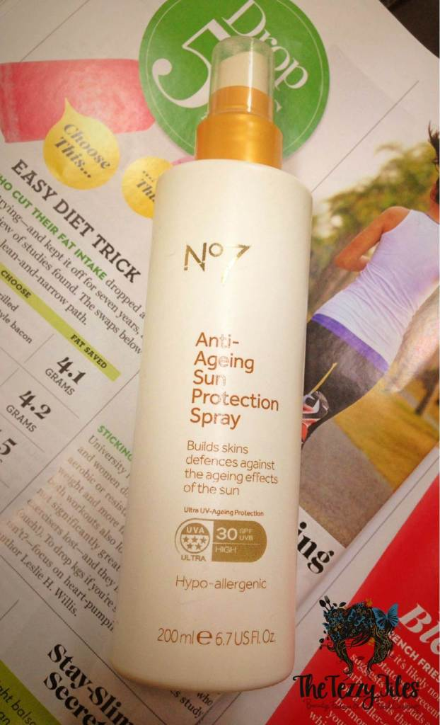 no 7 anti aging sun protection spray review