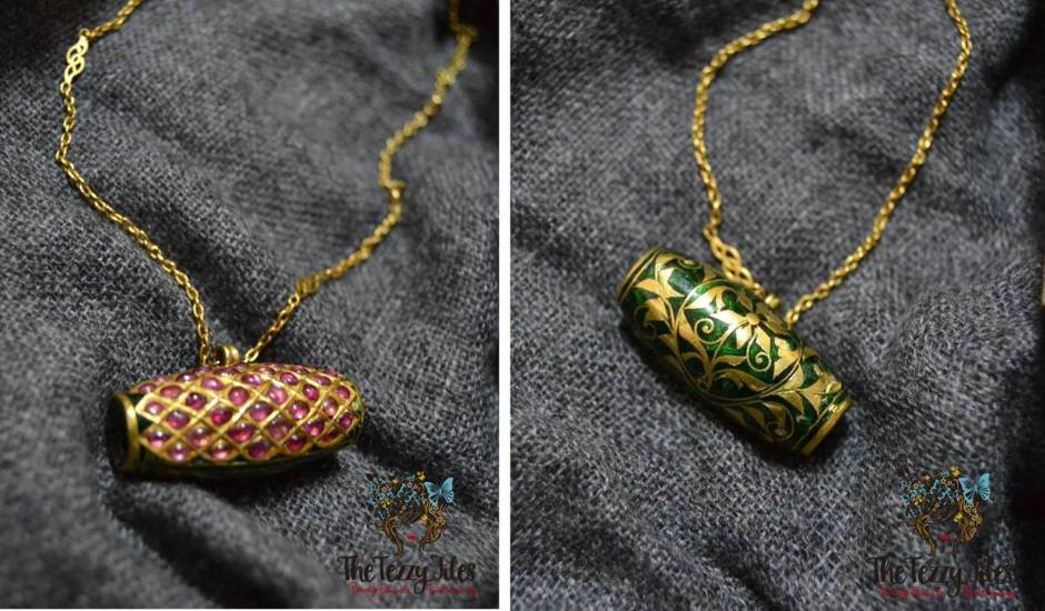 assamese dhool jewelry ruby green gold