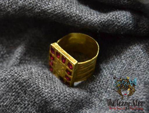 assamese ring ahom coin gold ruby