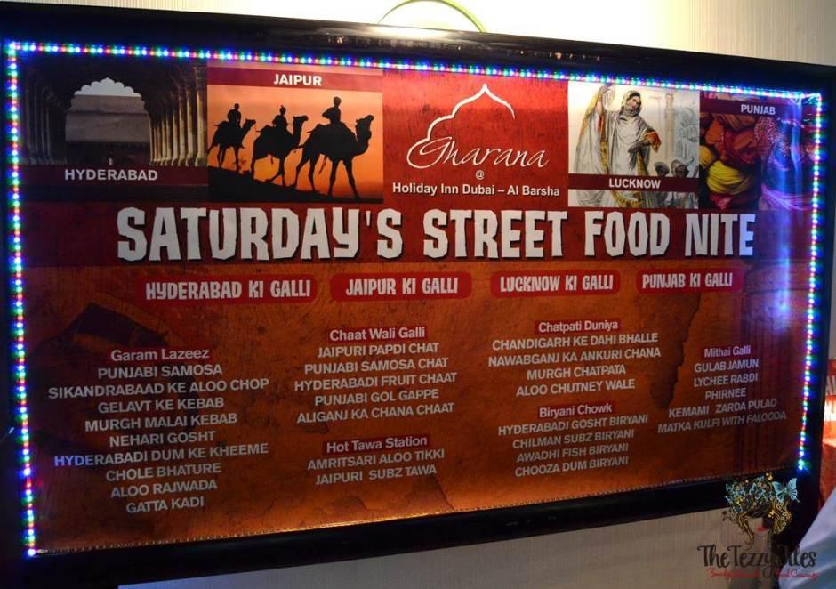 gharana street food night menu