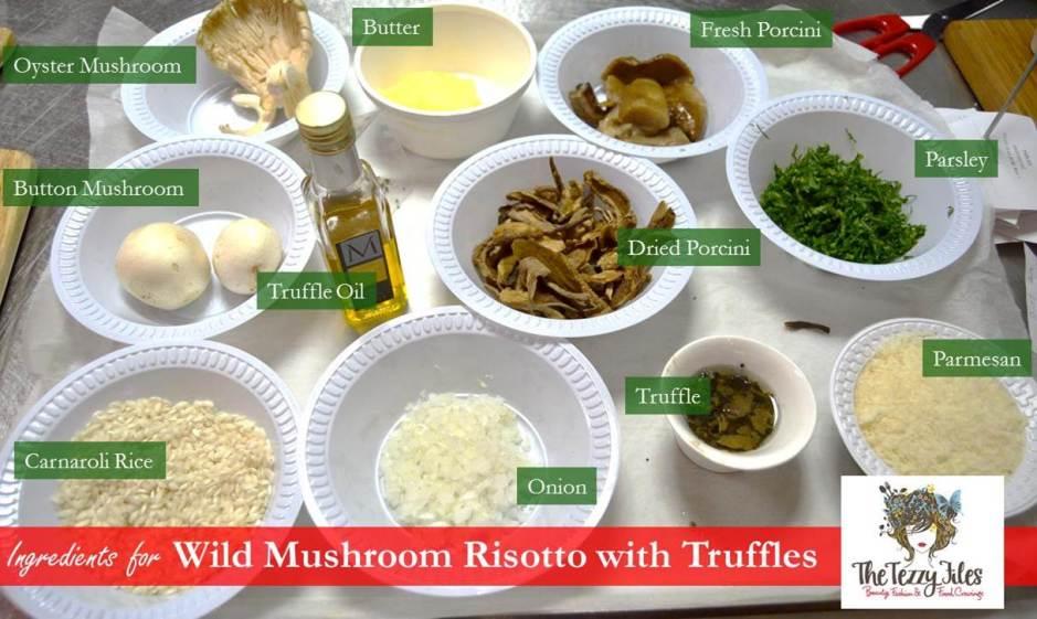 italian recipe risotto wild mushroom truffles chef