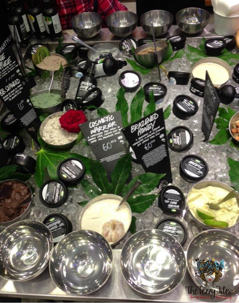 lush party products fresh