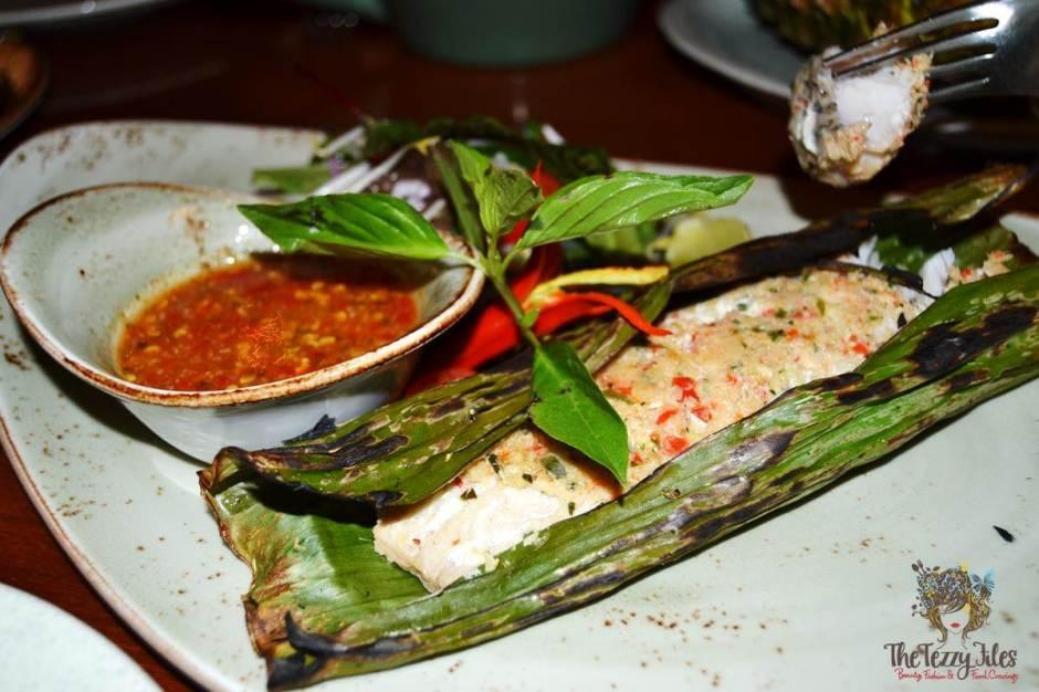 mango tree thai restaurant dubai review pla yang hor bai kluay samun prai