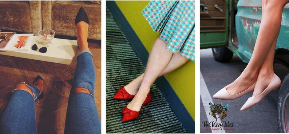 pointy flats to make you look taller