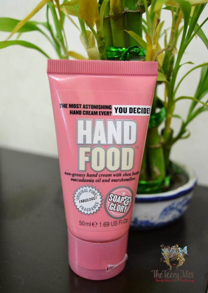 soap & glory hand food review