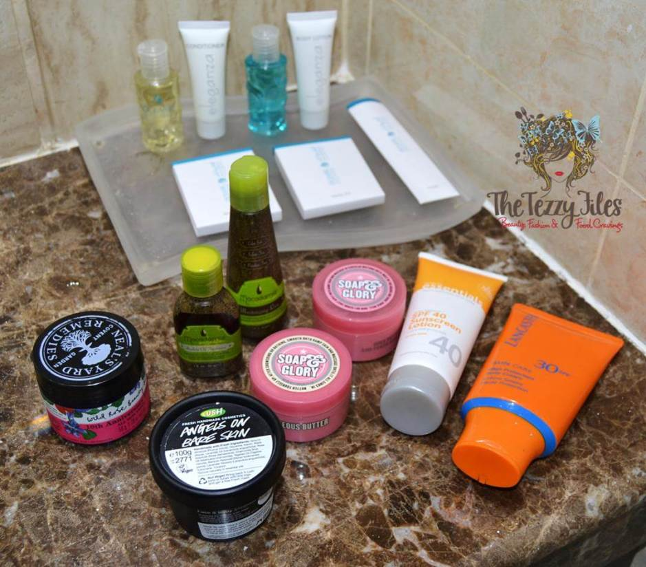 bath and beauty products road trip weekend away staycation