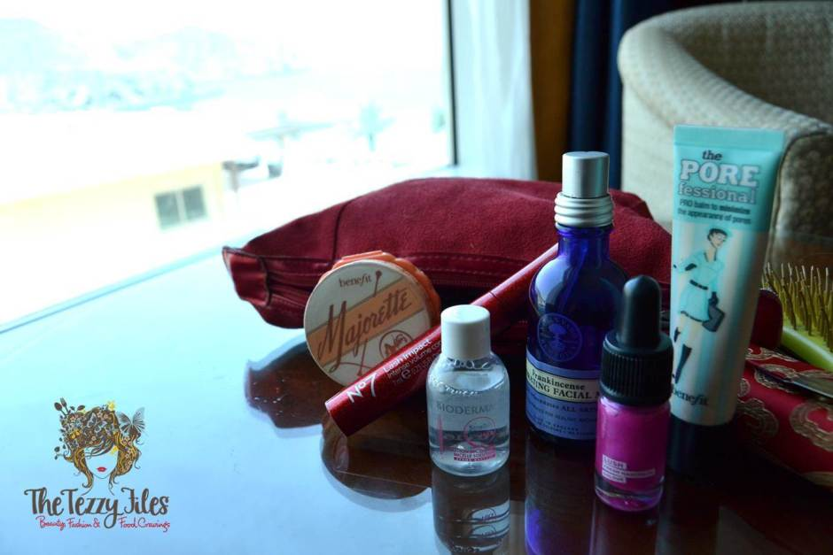 beauty essentials for a weekend away