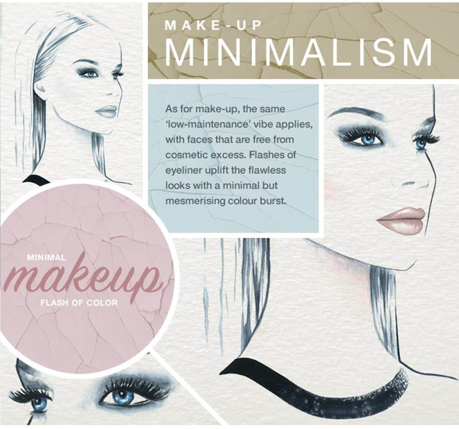 farfetch infographic minimalistic makeup summer trend 2015 review