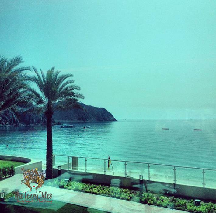 oceanic resort and spa khorfakkan breakfast view