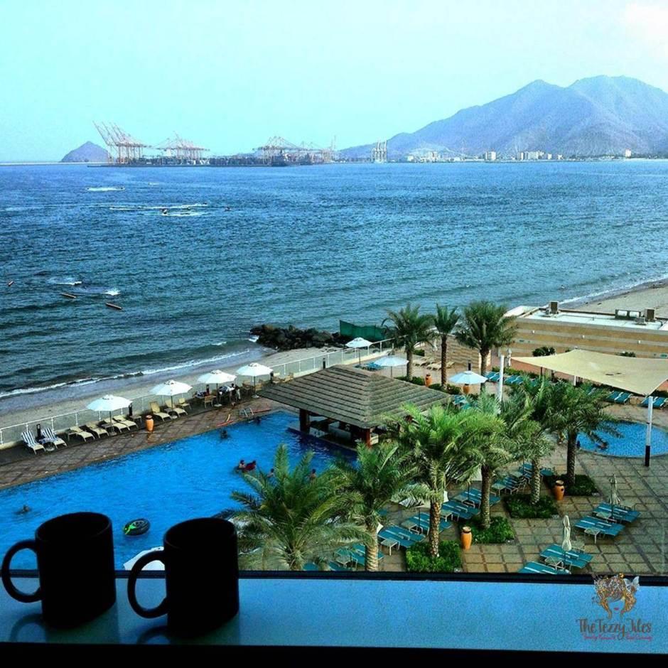 oceanic resort and spa khorfakkan view from window