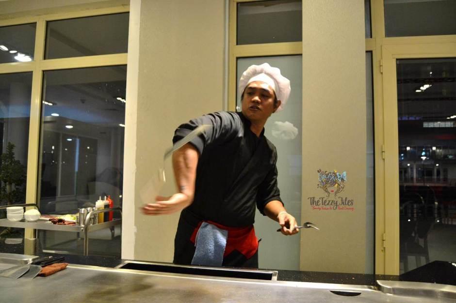 the hub 7 chef dari juggle teppanyaki dubai review