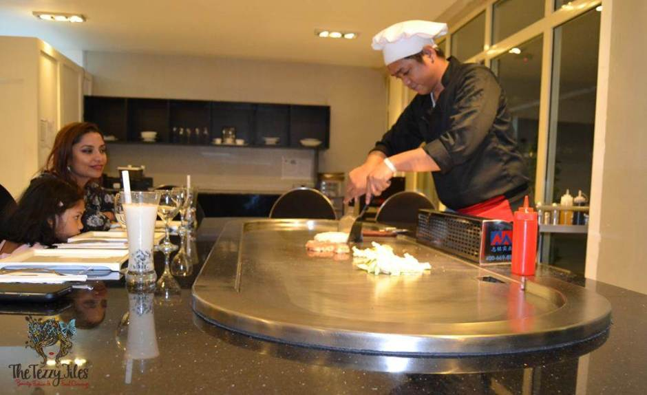 the hub 7 teppanyaki table live dubai review