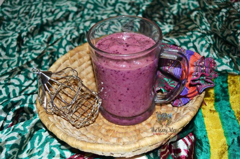 blueberry smoothie for suhoor avocado chia banana