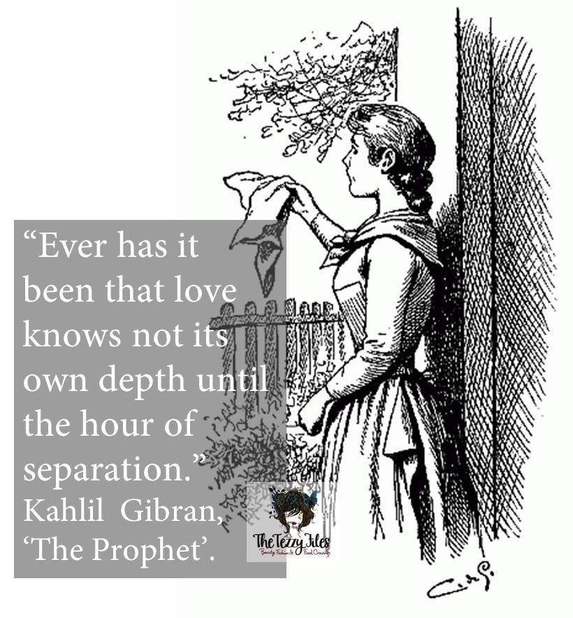 kahlil gibran quote the prophet seperation farewell