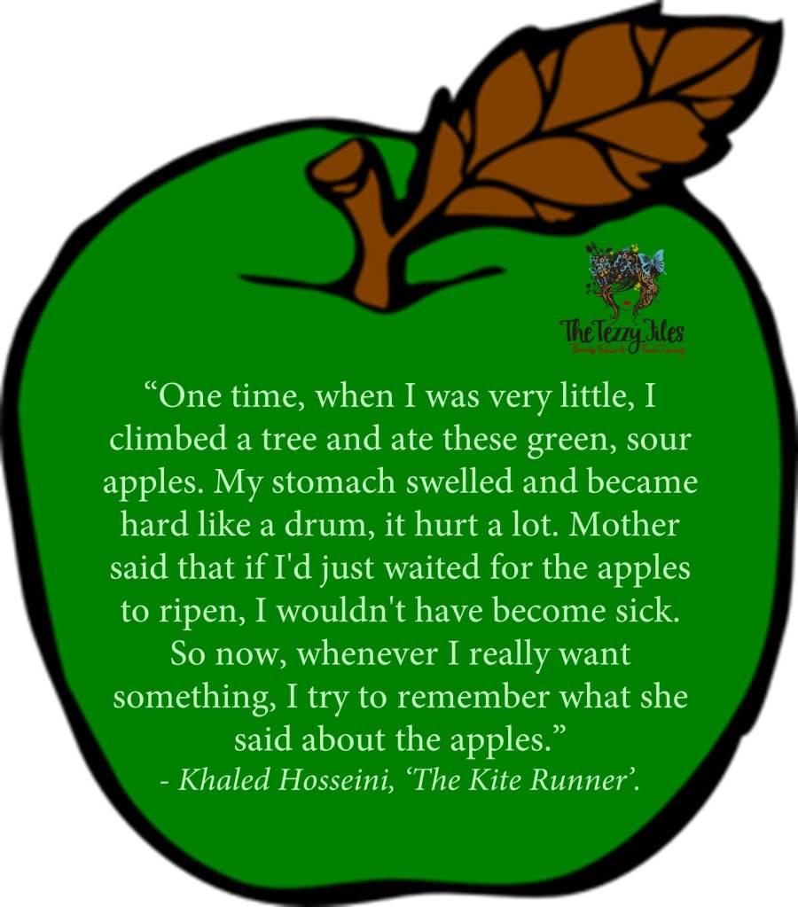 khaled hosseini quote sour apples kite runner