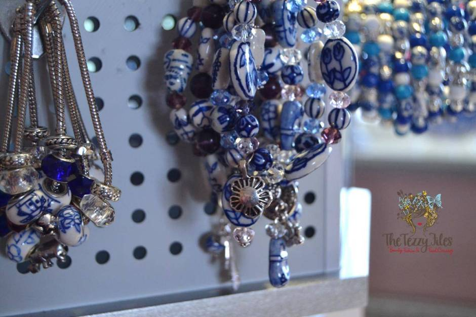 Delft pottery in the form of jewelry.