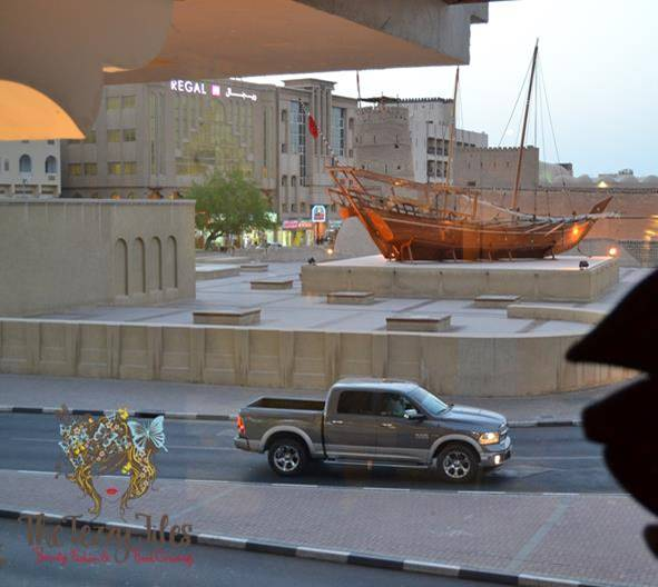 A view of Dubai Museum from the window