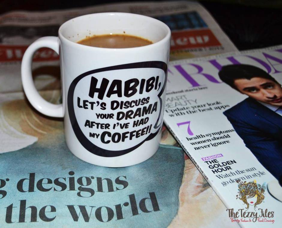 Habibi Cup Orange Boxy quirky coffee