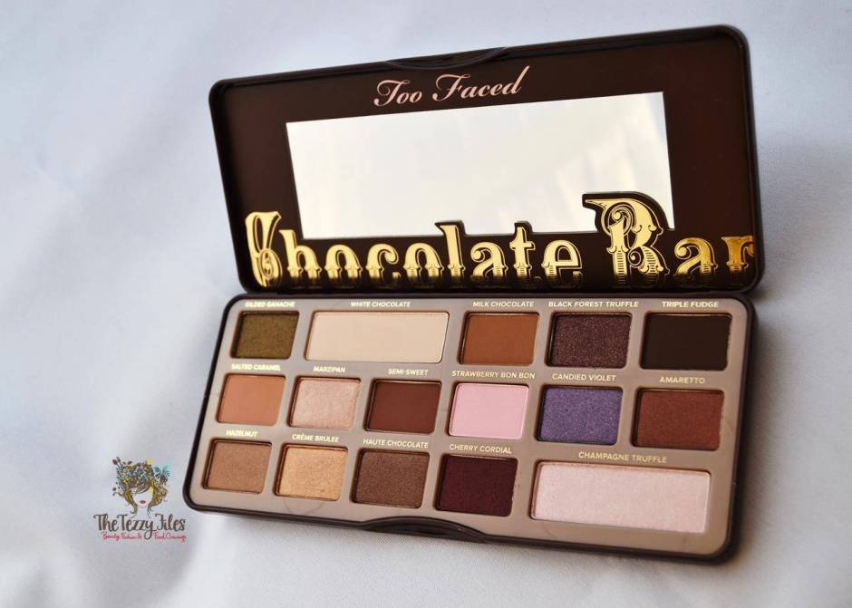 urban decay naked palette vs too faced chocolate palette eye shadow. which one is better 2 swatches