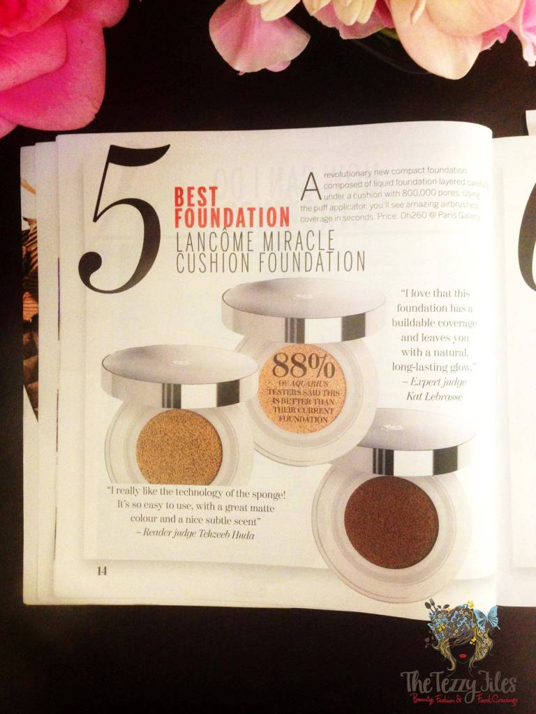Aquarius Beauty Heroes 2015 lancome miracle cushion foundation review