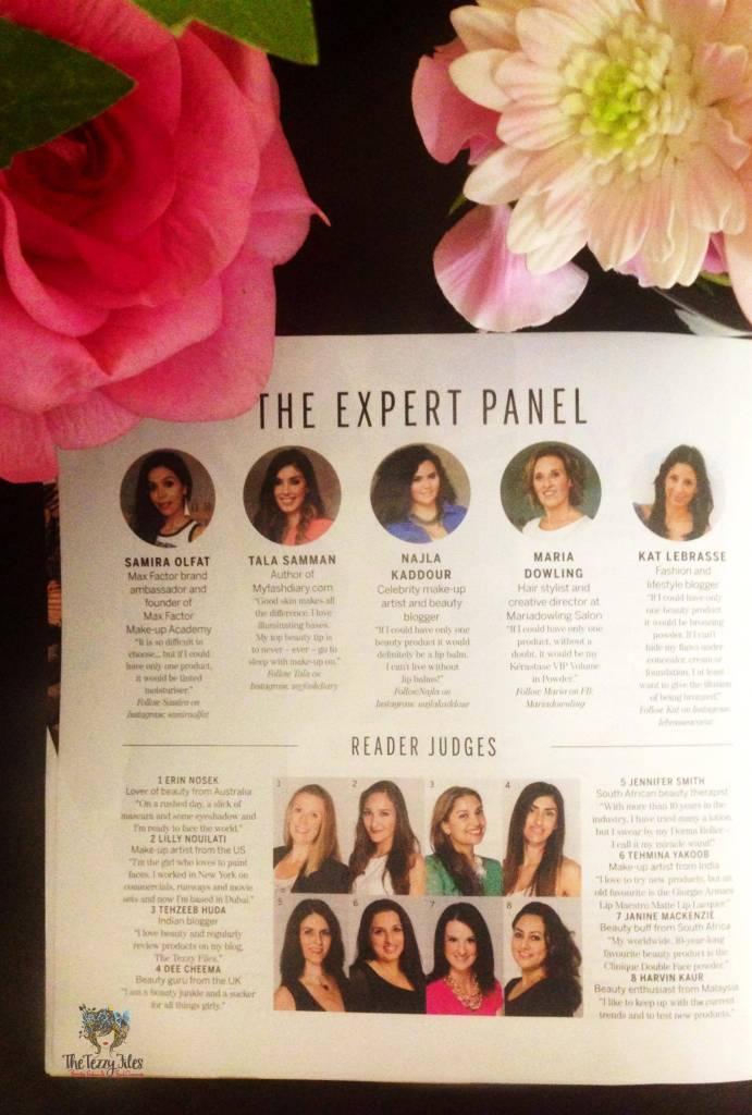 aquarius beauty heroes expert panel and reader judges 2015 beauty review dubai uae