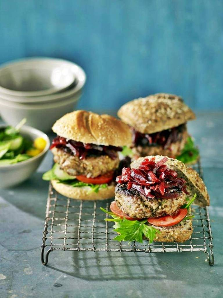 beef and beetroot relish burger at jamaica blue