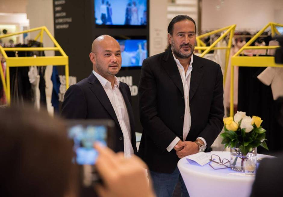 Bong Guerrero Founder and CEO FFWD and Michel Abchee Chairman and CEO of Galeries Lafayette Dubai