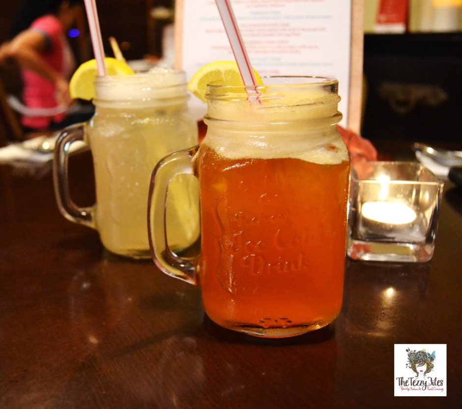 chimes al barsha dubai restaurant review drinks iced tea lemongrass lemonade