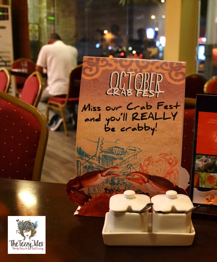 chimes crab fest october 2015 review al barsha dubai uae asian food singaporean chili crab malaysian butter crab mud crab
