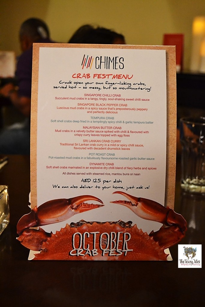 chimes october crab fest 2015 review food blog dubai uae seven sands