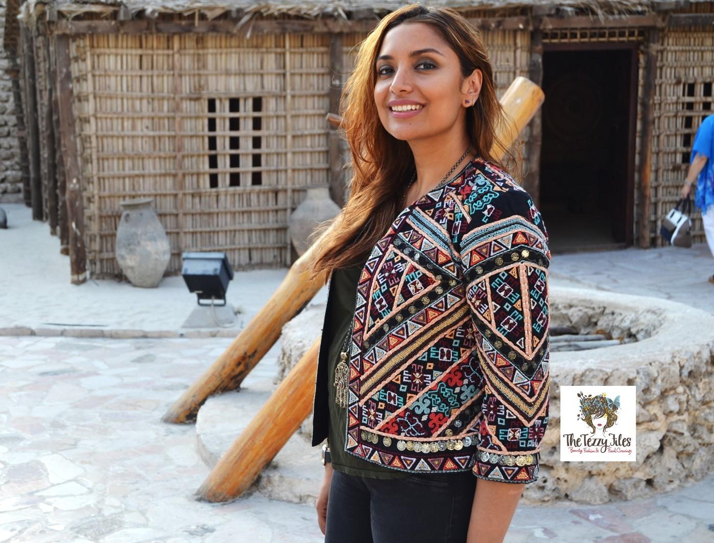 74331b08 #ootd zara tribal jacket the tezzy files fashion blog dubai uae at dubai  museum arabic
