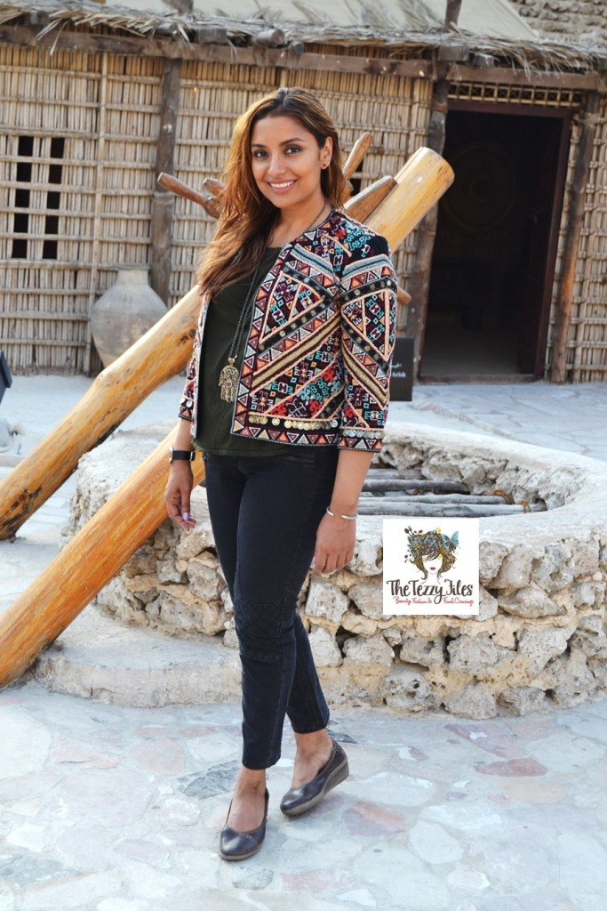 #ootd zara tribal jacket the tezzy files fashion blog dubai uae at dubai museum