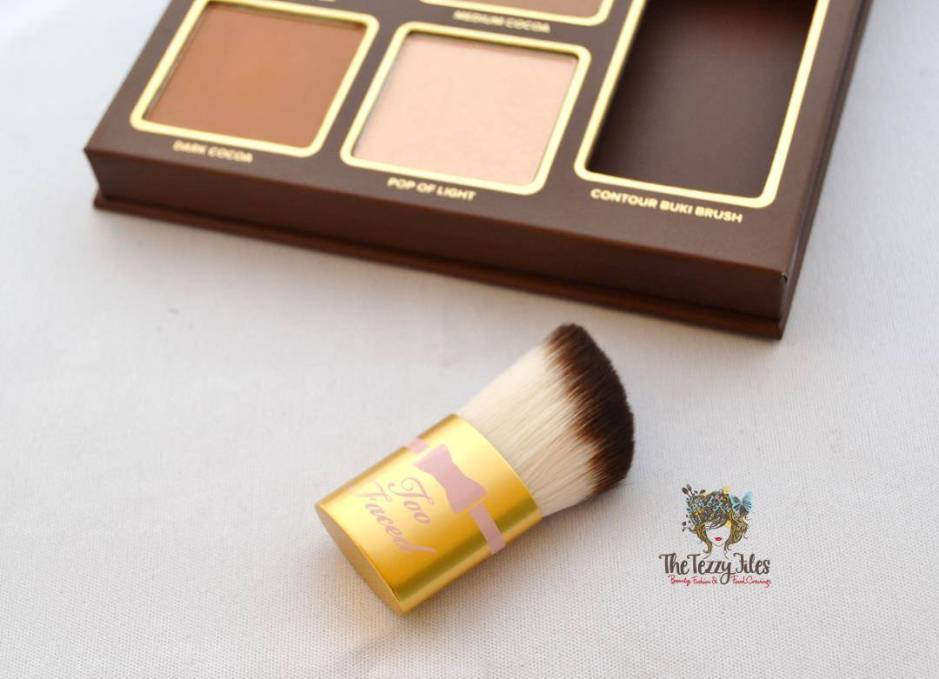 too faced cocoa contour kit review beauty blog contour brush