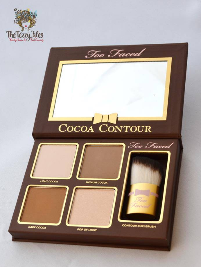 too faced cocoa contour kit review beauty blog