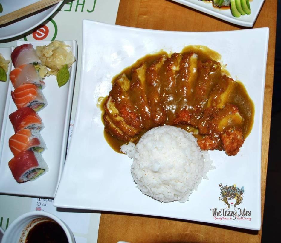 Chez Sushi review Dubai food blog mochi sushi wasabi chopstick training edamame tempura katsu curry (2)