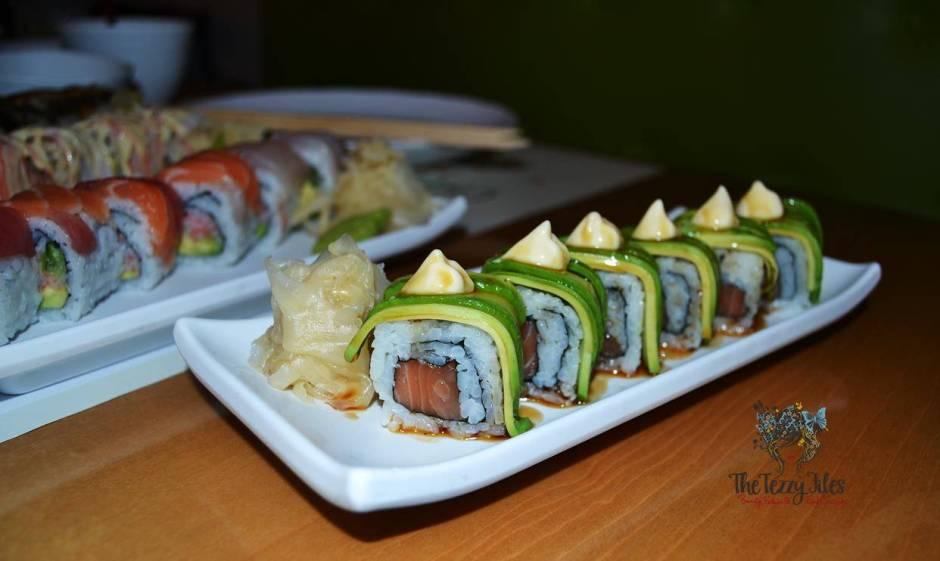 Chez Sushi review Dubai food blog mochi sushi wasabi chopstick training edamame tempura katsu curry (3)